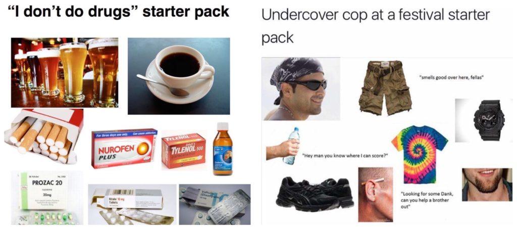 The starter kit meme took over the 2014 depicting popular stereotypes.